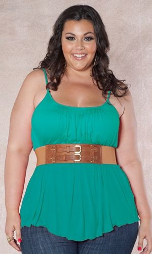 Cute plus size girl outfit