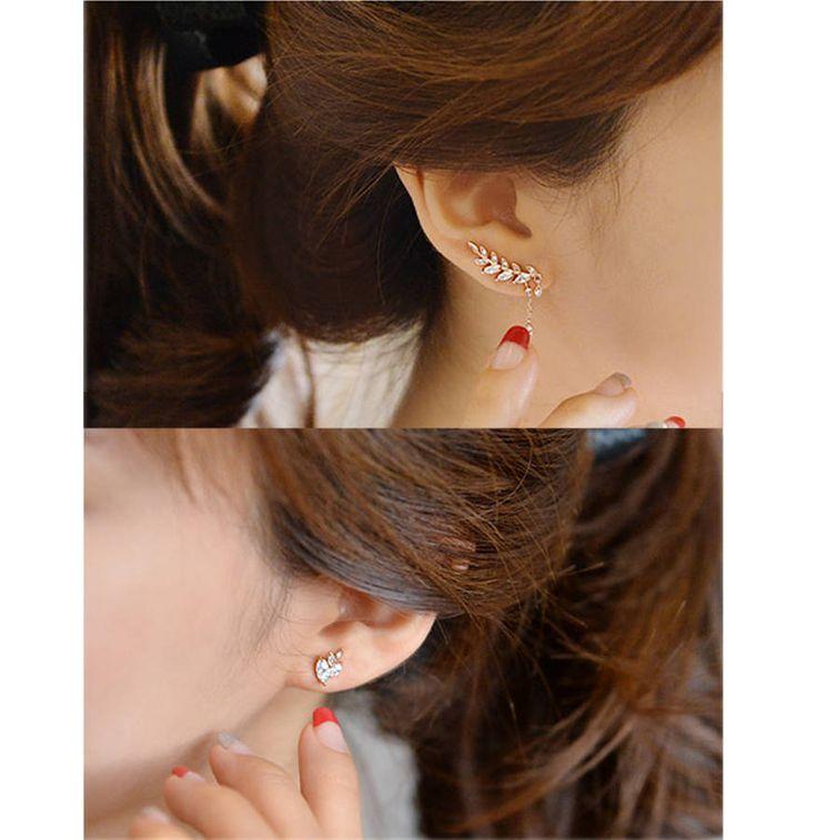 Asymmetric Leaf Stud Earrings