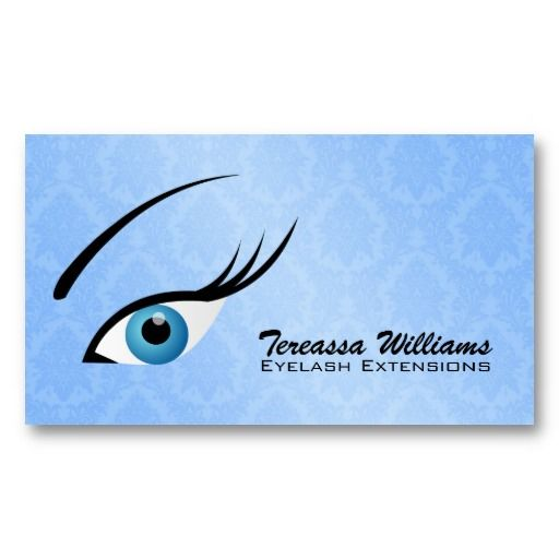 1000 images about Eyelash Extension Business Cards on