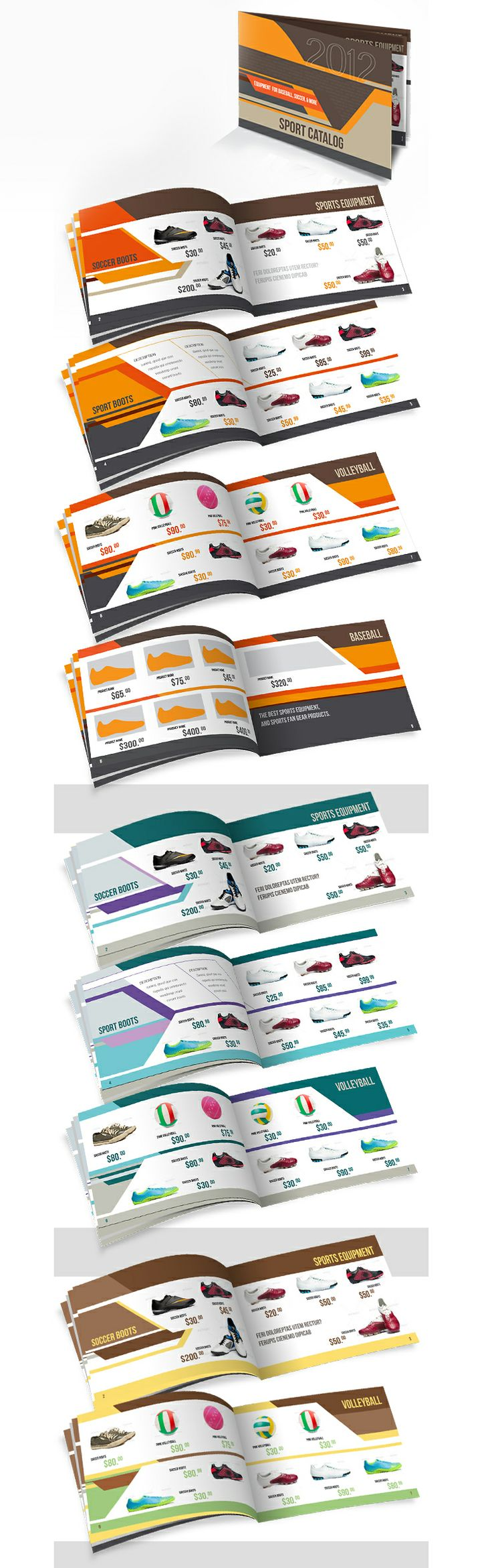 Sport catalog, editorial design