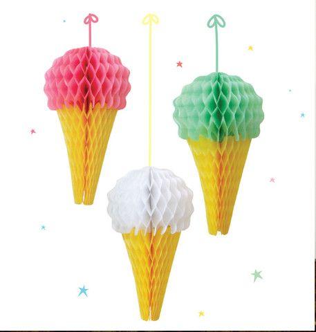 Ice Creams Paper Honeycomb