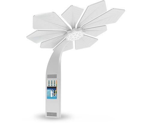 Station de recharge pour téléphone portable / solaire Smart Palm