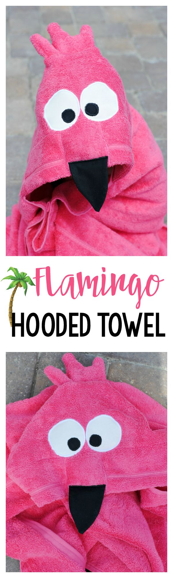 Flamingo Hooded Towel Pattern