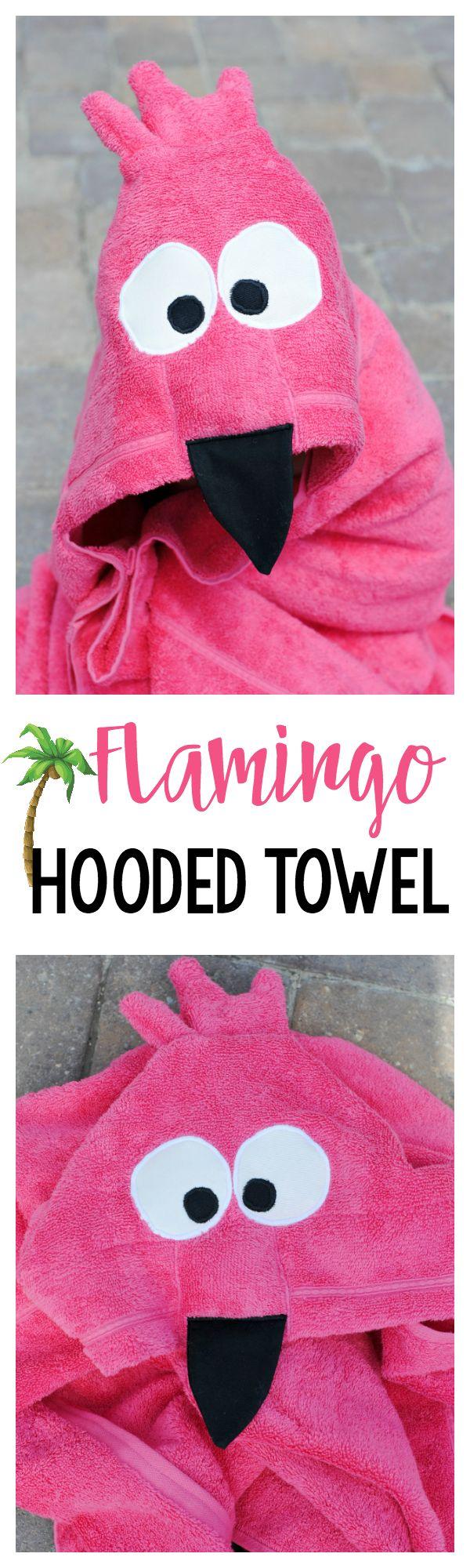 Baby flamingo car interior design - Flamingo Hooded Towel Pattern