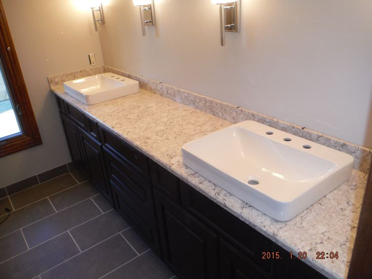 Attractive Aria LG Viatera Quartz Bathroom Install For The Foster Family. Knoxvilleu0027s  Stone Interiors. Showroom