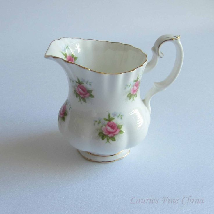 Free Shipping Royal Albert Forget Me Not Rose Bone China Mini Creamer by LauriesFineChina on Etsy