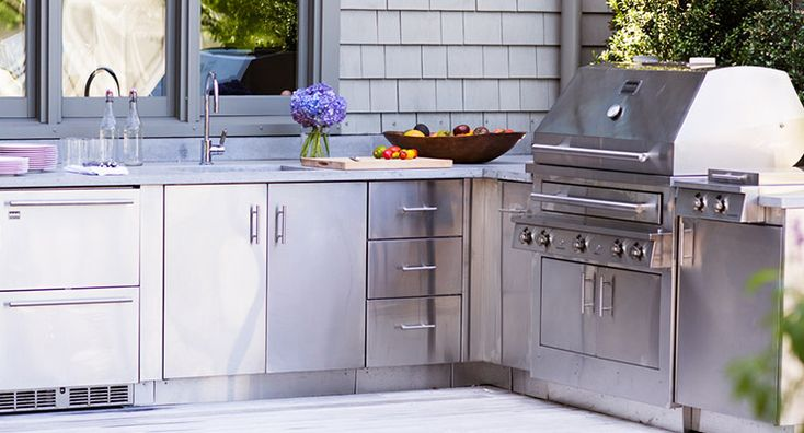 17 Best Ideas About Outdoor Kitchen Cabinets On Pinterest