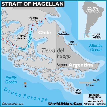 map of the strait of magellan, strait of magellan maps