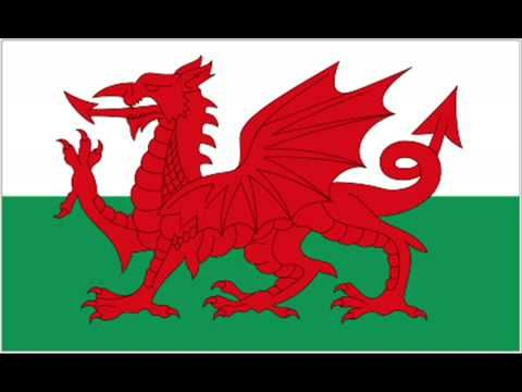 HIMNO Y BANDERA DE GALES - ANTHEM AND FLAG OF WALES - YouTube