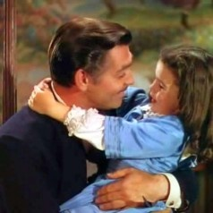 Rhett Butler with Bonnie Blue...love this image of a Southern daddy and his daughter!