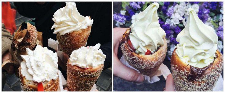 Dit donut ijsje maakt al je dromen over toetjes waar Het donut hoorntje, een alternatief voor het wafel hoorntje, is een hoorntje gemaakt van deeg bedekt met kaneelsuiker, overgoten met chocolade en gevuld met ijs. IDEE !!
