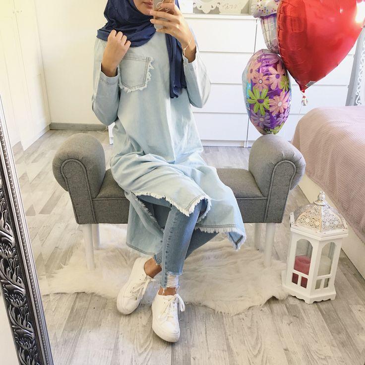 #blue tones Jeans tunika / tunik @z_style_damenmode Jersey hijab @mode_by_betul Tap for more tüm detaylar icin tiklayin * Anzeige