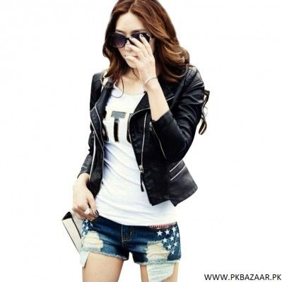 Faux Leather Jacket for Women for sale
