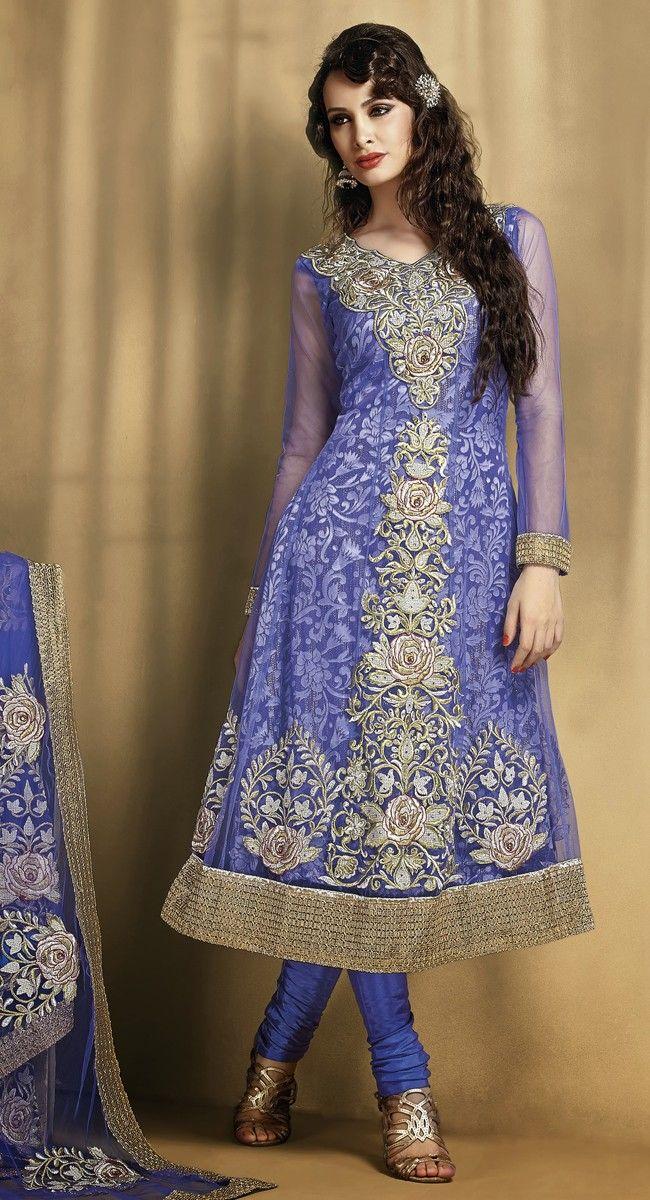 Enigmatic Mystic Blue Salwar Kameez