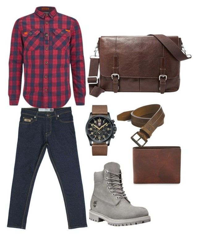 """Red versus Raw Turquoise S Series Denim"" by turquoisedenim on Polyvore featuring Superdry, Trask, FOSSIL, Luminox, mens, men, men's wear, mens wear, male and mens clothing"
