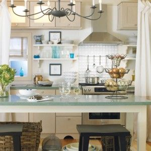 Small Space Kitchen Decorating With Compact Kitchen Appliances and Black Chandelier a part of Luxurious Traditional Small Space Kitchen Deco...