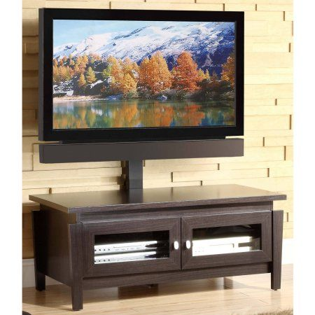 Whalen TV Stand with Swinging Mount, for TVs up to 50 inch, Brown