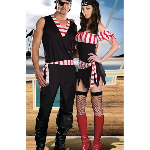 Ships Ahoy Couple Costume, womens pirate costumes
