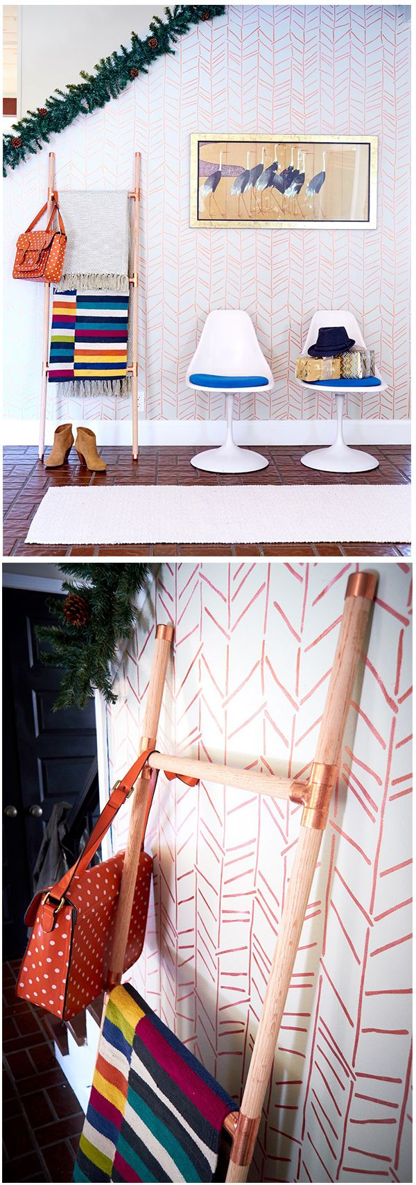 94 best wall stencils images on pinterest nurseries cozy and do you herringbone hand drawn wall stencil christmas wall decor room makeover by curbly amipublicfo Gallery