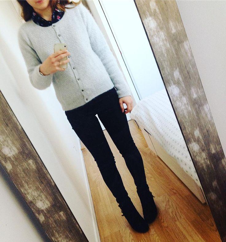 """72 Me gusta, 3 comentarios - Sarah 🌸 (@ptite_perle) en Instagram: """"Look du jour, pas d'inspi, il fait froid ❄️⛄️ !! Bon mardi les filles Pull #chatawak  Tomboy…"""""""