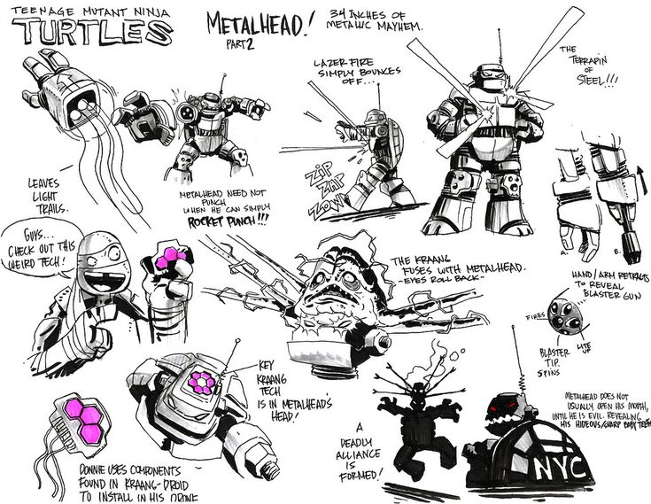 how to draw tmnt characters