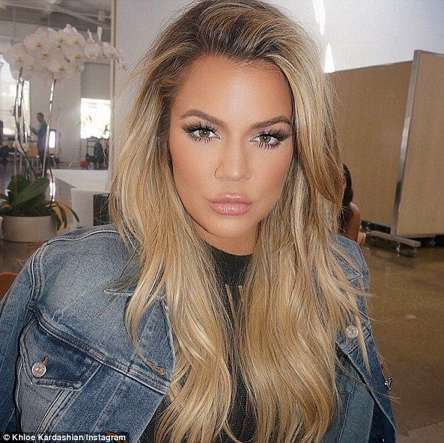 Pucker up: Earlier in the day, Khloe shared this snap of her doing her best duck face...