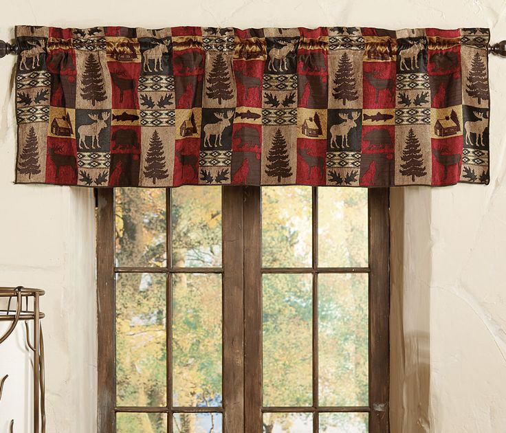 Appalachian Valance A Black Forest Decor Exclusive Display Your Love Of Nature With These Unlined Valances In Three Cabin Inspired Patchwork Prints