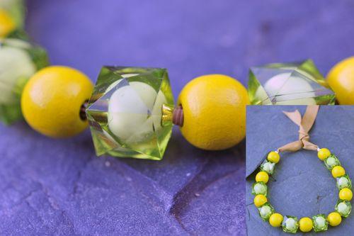 Zeleno-žlutý náhrdelník