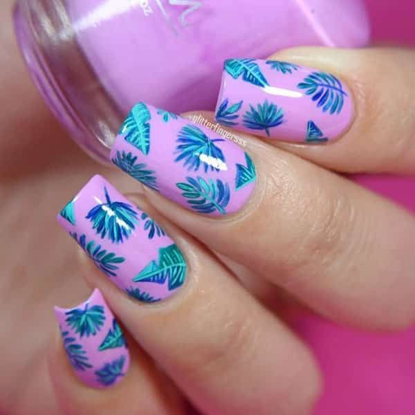 Tropical Flora by @glitterfingersss; see the full nail art gallery at http:/ - Best 25+ Tropical Nail Art Ideas On Pinterest Tropical Nail