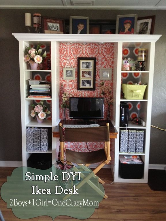 Finished IKEA Expedite desk creation #DYI project makeover