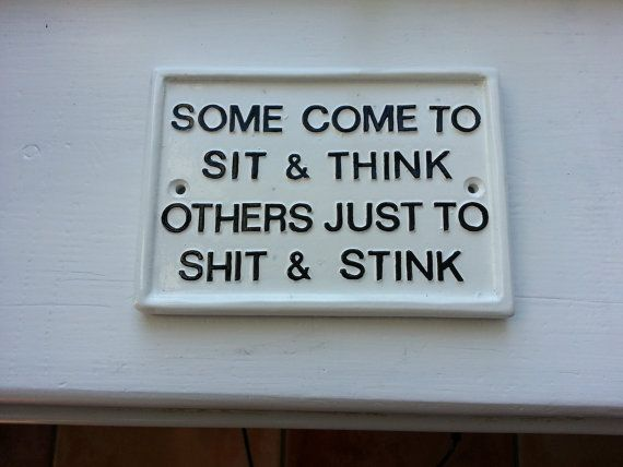 funny signs humorous plaques toilet signhouse by BensSigns on Etsy                                                                                                                                                                                 More