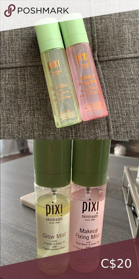 Pixi Glow mist and the Pixi Makeup fixing mist in 2020