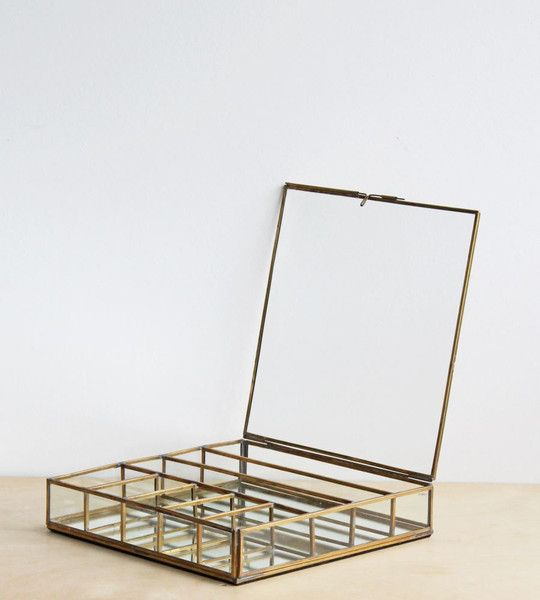 NKUKU GLASS AND BRASS COLLECTIONS BOX