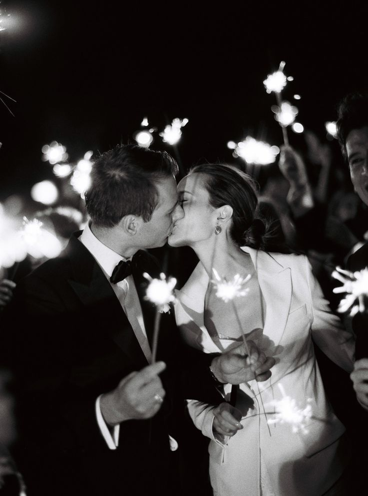 Seeing everyone at the wedding in the light of the sparklers at midnight is something I will never forget.