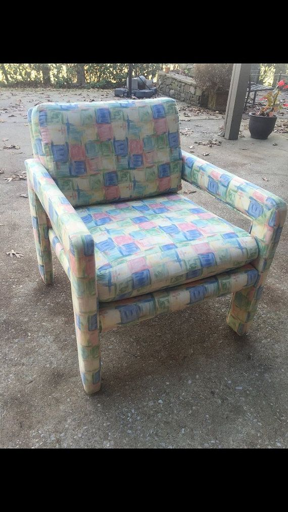 Upholstered Parsons Arm Chair #1