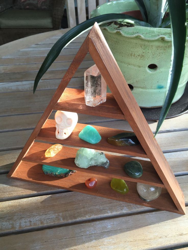 Triangle shelf, pyramid shelf, homemade shelf, reclaimed cedar, reclaimed wood, artisan shelf, wall decor, modern decor, bohemian, hippie