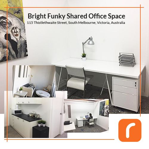 Bright Funky Office Space with 2 Desks for Rent in South Melbourne. Only $523 a month