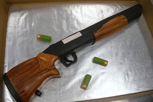 Take aim!   shotgun cake for a gun lover! 20 servings   Fairytales Custom Cakery   Flickr