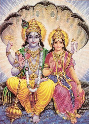 Vishnu y Lakshmi.