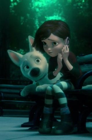 Bolt and Penny. This movie makes me so emotional <~~ Dude I cry watching this movie