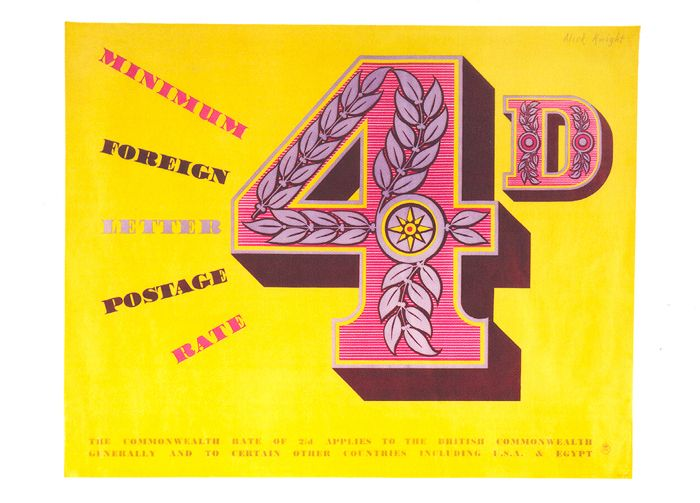 £1 - free delivery with code PINPOSTER   Sidney Alick Knight was a designer, illustrator and lithographer who worked for National Savings and the Daily Telegraph as well as the Post Office. He produced a number of posters throughout the 1950s and 1960s including this eye-catching design.