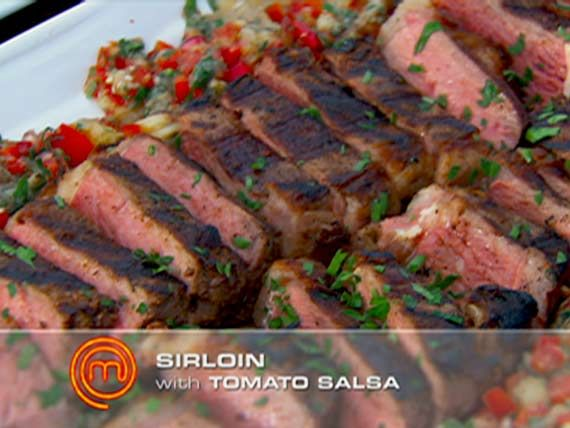 Winning Dishes Gallery | MasterChef Australia Ep 23: Spiced sirloin steaks  Get Dan C's Spiced sirloin steaks recipes.