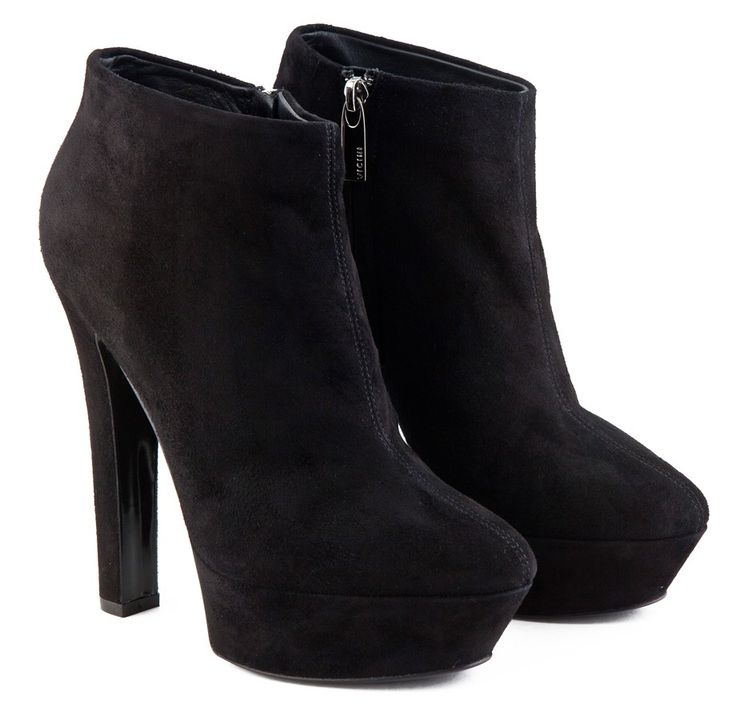 high heel black leather ankle boots | wish i could have it ...