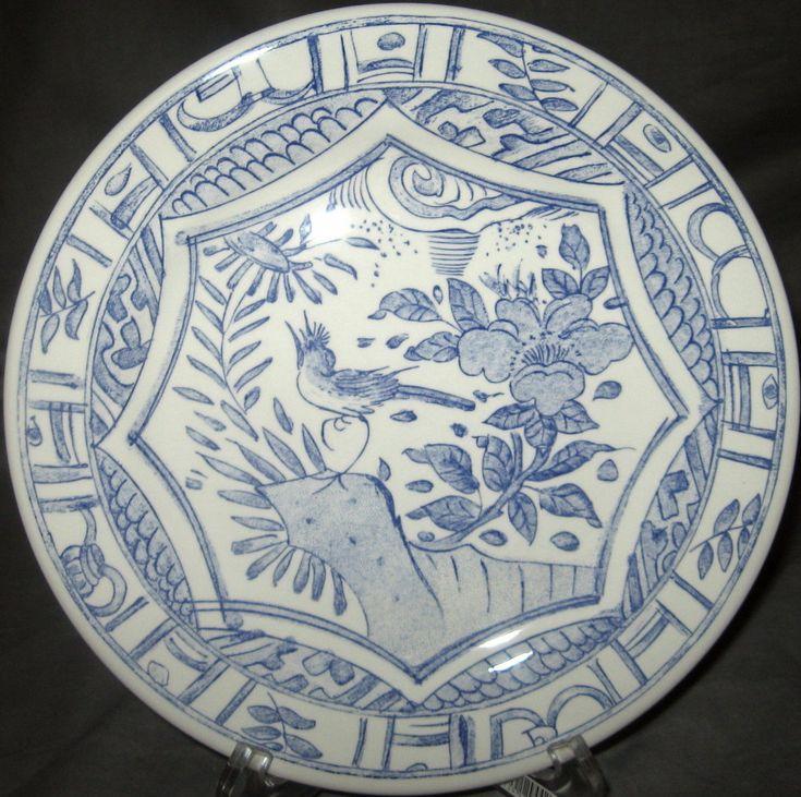 Gien Oiseau Bleu Salad Plate - That bird looks lost
