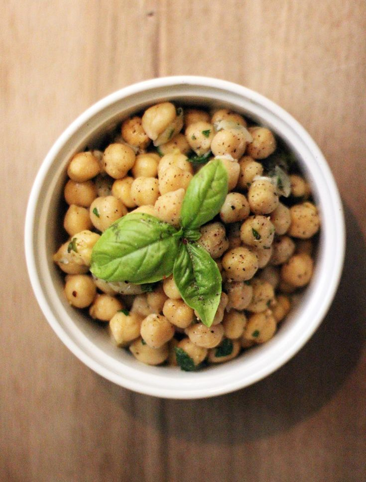 CHICK PEA SALAD WITH FRESH HERBS AND LEMON RECIPE