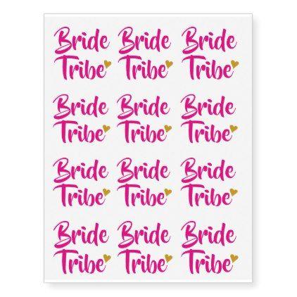 Bride Tribe Gold Heart Temporary Tattoos | Zazzle.com