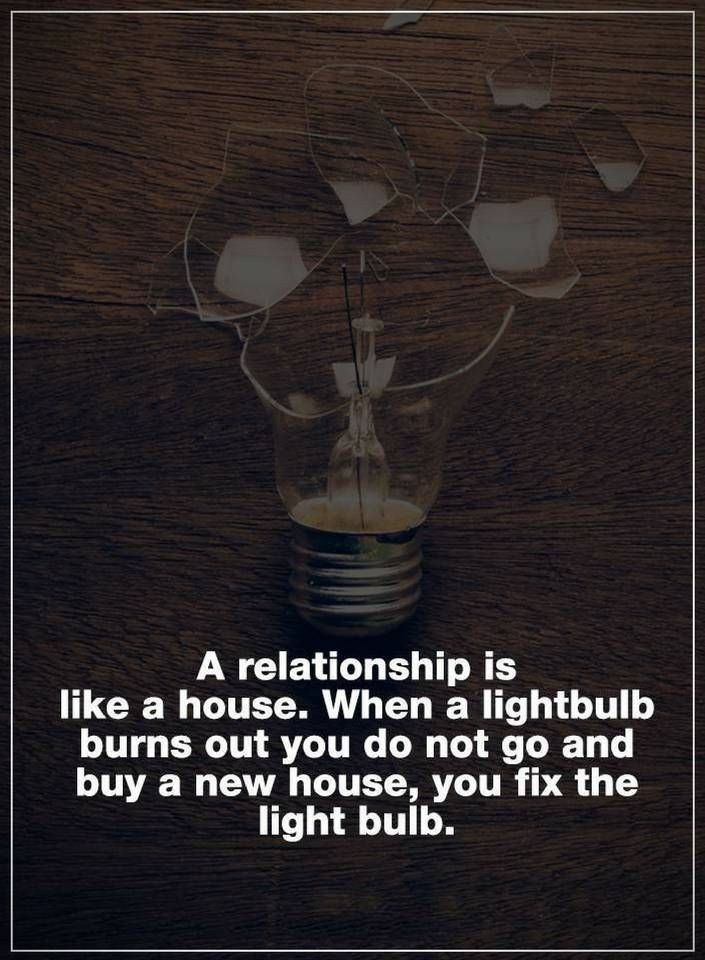 Relationship Quotes A relationship is like a house