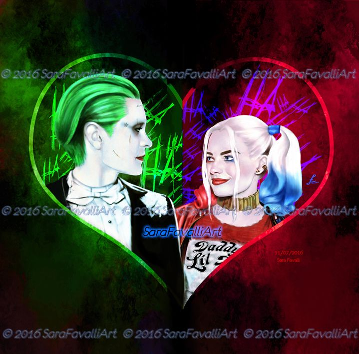 Joker and Harley by Sara-Favalli.deviantart.com on @DeviantArt