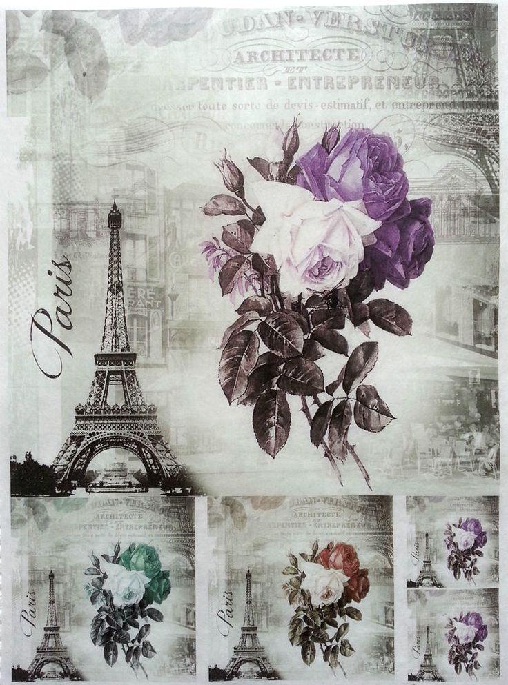 Rice Decoupage Paper / Decoupage Sheets  / Scrapbooking / Beauty Paris