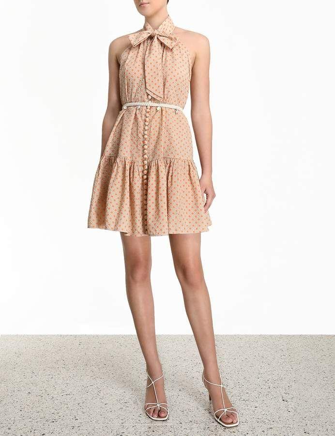 Zimmermann Peggy Bow Tie Short Dress Sponsored Affiliate Bow Peggy Zimmermann In 2020 Short Dresses Street Style Women Shop Womens Swimwear